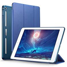 Etui Portefeuille Livre Cuir L05 pour Apple iPad Mini Bleu