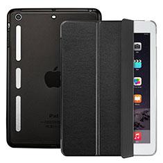 Etui Portefeuille Livre Cuir L05 pour Apple iPad Mini Noir