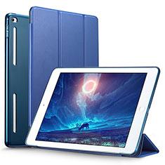 Etui Portefeuille Livre Cuir L06 pour Apple iPad Mini 4 Bleu