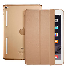 Etui Portefeuille Livre Cuir L06 pour Apple iPad Mini 4 Marron