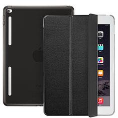 Etui Portefeuille Livre Cuir L06 pour Apple iPad Mini 4 Noir