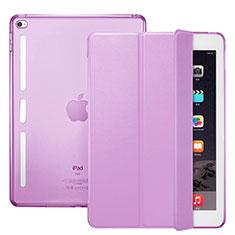 Etui Portefeuille Livre Cuir L06 pour Apple iPad Mini 4 Rose