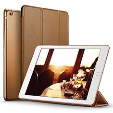 Etui Portefeuille Livre Cuir L06 pour Apple iPad Mini Marron
