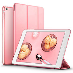 Etui Portefeuille Livre Cuir L06 pour Apple iPad Mini Rose