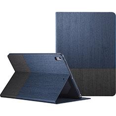 Etui Portefeuille Livre Cuir L06 pour Apple iPad Pro 10.5 Bleu