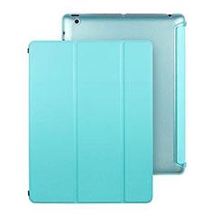Etui Portefeuille Livre Cuir pour Apple iPad 4 Bleu Ciel