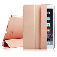 Etui Portefeuille Livre Cuir pour Apple iPad Air 2 Or Rose