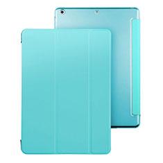 Etui Portefeuille Livre Cuir pour Apple iPad Air Bleu Ciel