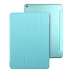Etui Portefeuille Livre Cuir pour Apple iPad Mini 4 Bleu Ciel