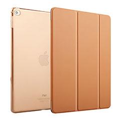 Etui Portefeuille Livre Cuir pour Apple iPad Mini 4 Marron