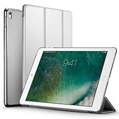 Etui Portefeuille Livre Cuir pour Apple iPad Pro 12.9 (2017) Argent