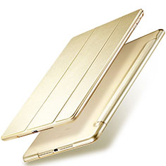 Etui Portefeuille Livre Cuir pour Apple New iPad 9.7 (2018) Or