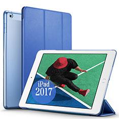 Etui Portefeuille Livre Cuir pour Apple New iPad Pro 9.7 (2017) Bleu