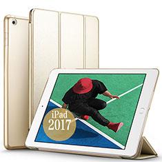Etui Portefeuille Livre Cuir pour Apple New iPad Pro 9.7 (2017) Or