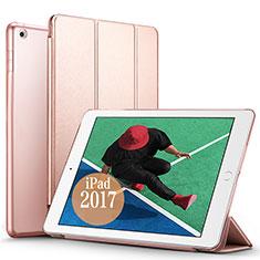 Etui Portefeuille Livre Cuir pour Apple New iPad Pro 9.7 (2017) Or Rose