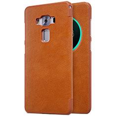 Etui Portefeuille Livre Cuir pour Asus Zenfone 3 Deluxe ZS570KL ZS550ML Marron