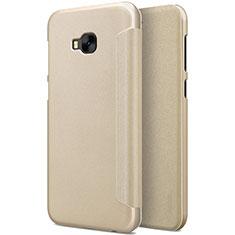 Etui Portefeuille Livre Cuir pour Asus Zenfone 4 Selfie Pro Or