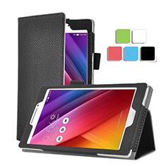 Etui Portefeuille Livre Cuir pour Asus ZenPad C 7.0 Z170CG Noir