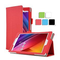 Etui Portefeuille Livre Cuir pour Asus ZenPad C 7.0 Z170CG Rouge