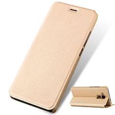 Etui Portefeuille Livre Cuir pour Huawei GR5 Mini Or