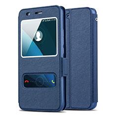 Etui Portefeuille Livre Cuir pour Huawei Honor 4A Bleu