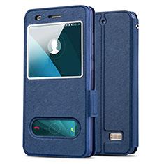 Etui Portefeuille Livre Cuir pour Huawei Honor 4C Bleu