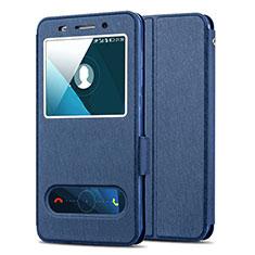 Etui Portefeuille Livre Cuir pour Huawei Honor 4X Bleu