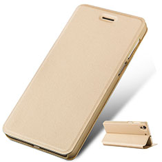 Etui Portefeuille Livre Cuir pour Huawei Honor 5A Or