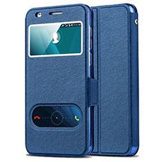 Etui Portefeuille Livre Cuir pour Huawei Honor 6 Bleu