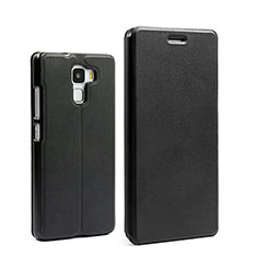 Etui Portefeuille Livre Cuir pour Huawei Honor 7 Noir