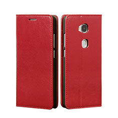 Etui Portefeuille Livre Cuir pour Huawei Honor Play 5X Rouge