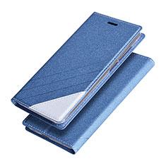 Etui Portefeuille Livre Cuir pour Huawei Honor V9 Bleu