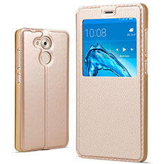 Etui Portefeuille Livre Cuir pour Huawei Honor V9 Play Or