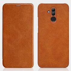 Etui Portefeuille Livre Cuir pour Huawei Maimang 7 Marron