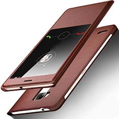 Etui Portefeuille Livre Cuir pour Huawei Mate 7 Marron