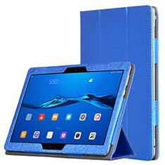 Etui Portefeuille Livre Cuir pour Huawei MediaPad M3 Lite Bleu