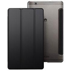 Etui Portefeuille Livre Cuir pour Huawei MediaPad M3 Noir