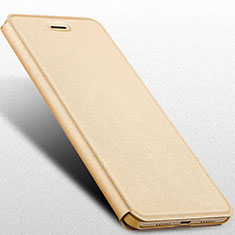 Etui Portefeuille Livre Cuir pour Huawei Nova Lite Or