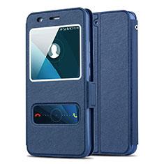 Etui Portefeuille Livre Cuir pour Huawei Y6 Bleu