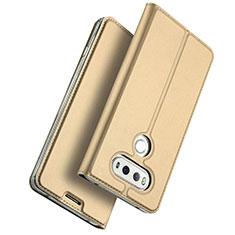 Etui Portefeuille Livre Cuir pour LG G6 Or