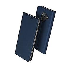 Etui Portefeuille Livre Cuir pour Samsung Galaxy A6 (2018) Dual SIM Bleu