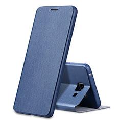 Etui Portefeuille Livre Cuir pour Samsung Galaxy A7 (2016) A7100 Bleu