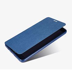 Etui Portefeuille Livre Cuir pour Samsung Galaxy A9 (2016) A9000 Bleu