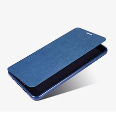Etui Portefeuille Livre Cuir pour Samsung Galaxy A9 Pro (2016) SM-A9100 Bleu