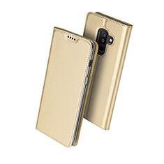 Etui Portefeuille Livre Cuir pour Samsung Galaxy A9 Star Lite Or
