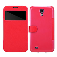 Etui Portefeuille Livre Cuir pour Samsung Galaxy Mega 6.3 i9200 i9205 Rouge