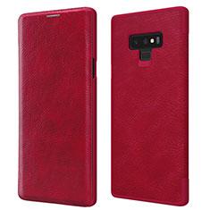 Etui Portefeuille Livre Cuir pour Samsung Galaxy Note 9 Rouge