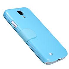Etui Portefeuille Livre Cuir pour Samsung Galaxy S4 i9500 i9505 Bleu