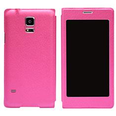 Etui Portefeuille Livre Cuir pour Samsung Galaxy S5 Duos Plus Rose Rouge