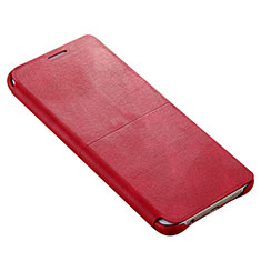 Etui Portefeuille Livre Cuir pour Samsung Galaxy S6 Edge+ Plus SM-G928F Rouge